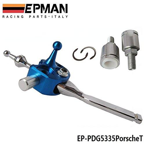 EPMAN Short Shifter Quick Gear Shifter Kit Quicker Shift For Porsche 911/996 Turbo AWD Boxster/986/S (Silver)