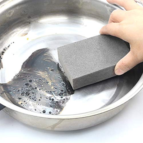 kebyy 3 Pcs BBQ Grill Brick Griddle Cleaner Barbecue Scraper Cleaning Stone for Kitchen