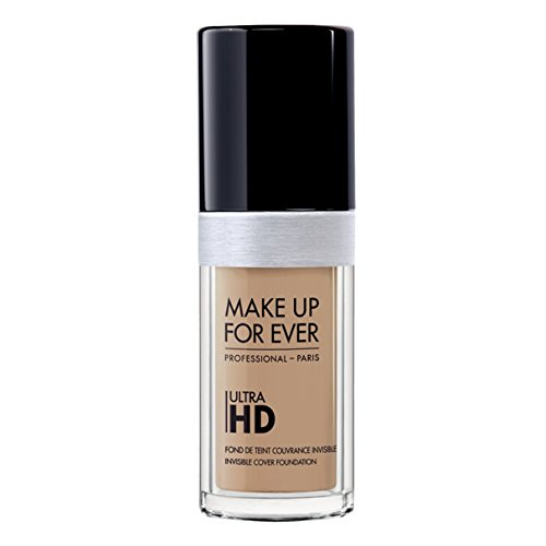 Ultra Natural Foundation (Foundation Ultra Hd Fluid Foundation Ultra Hd, Y255 SAND BEIGE , Authentic 100% From Paris France (Smooth, Oil Free , Cover Ance Dark Spot , Brightening) 30ml)