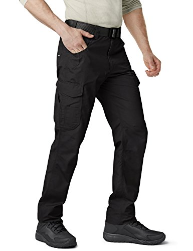 CQR CQ-TWP302-BLK_38W/34L Men's Operator Rip-Stop Tactical Work Utility Pants EDC TWP302 by CQR