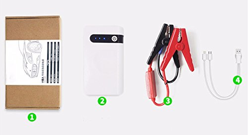 300A Peak Portable 12V Car Jump Starter for Gas Engine up to 2.5L Car Battery Booster Charger