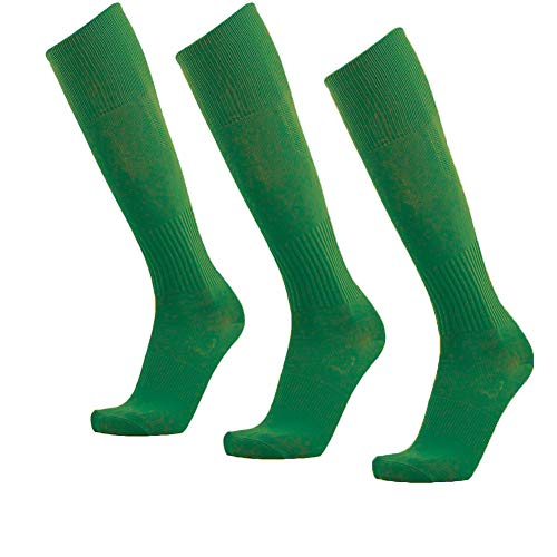 Unisex Athletic Knee High Breathable Compression Solid Tube Soccer Football Sport Socks 3/12 Pairs ... (Green-Unisex 3 pairs)]()