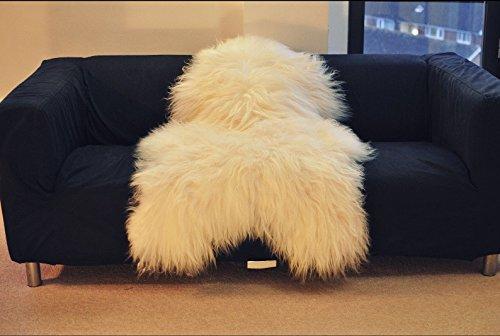 Biggest | Soft and Silky | Icelandic Sheepskin Rug | (Medium 110-120 cm)
