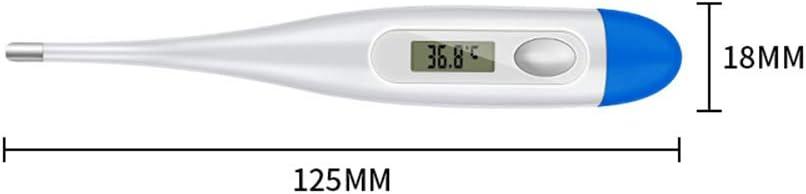 sin Mercurio con Pantalla LCD Term/ómetro R/ápido para Bebe Ni/ños y Adultos ChicSoleil Termometro Digital y Corporal sin Cristal