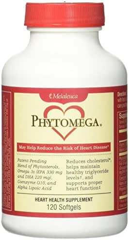 Phytomega Heart Health Supplement 120 Softgels.