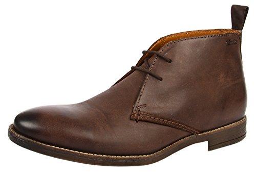 Clarks Novato Herren Kurzschaft Stiefel Braun (Brown Leather)