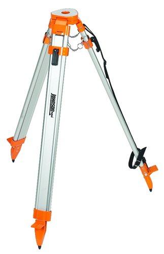 Johnson Level & Tool 40-6340 5/8-Inch by 11 Threaded Flat Head Tripod