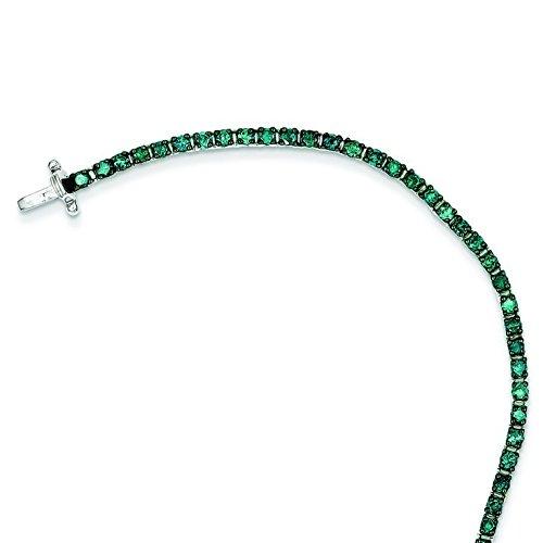 Argent 925/1000-Bleu-Bracelet de Tennis en diamants bruts JewelryWeb