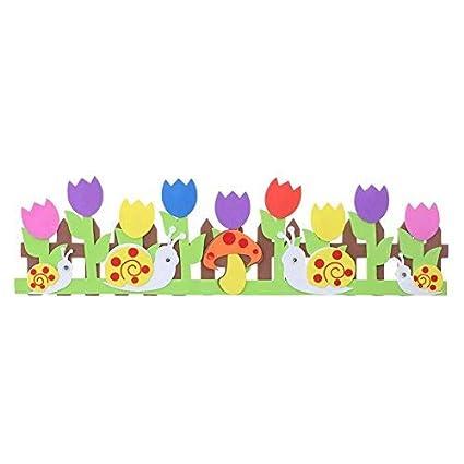 Happybin Flowers Snails Mushroom Wall Stickers Decals Mural