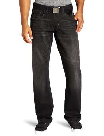 Lee Men's Dungarees Belted Vintage Slim Straight Leg Jean, Combat, 29W x 30L