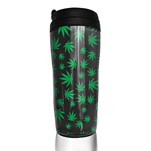 (Ellis Patricia Coffee Mugs Green Weed Hot Beverage Cups & Lids Large Travel Cups Hold Shape with Hot and Cold Drinks, No)
