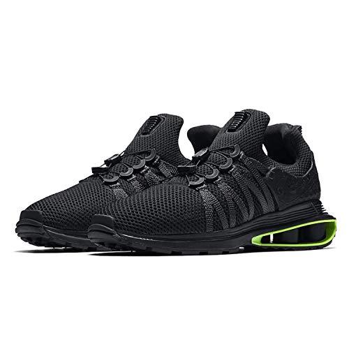acb5649e4f8 Galleon - NIKE Men s Shox Gravity Nylon Running Shoes (Black Black Black Green  Strike