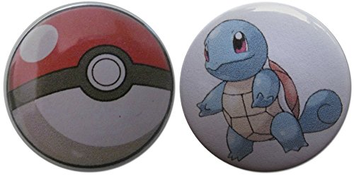 Squirtle & Pokéball (From Pokémon) 1.25 Inch Magnet Set (Jessie From Team Rocket)