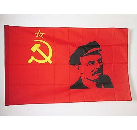 AZ FLAG Bandera de la URSS con Lenin 150x90cm para Palo - Bandera ...