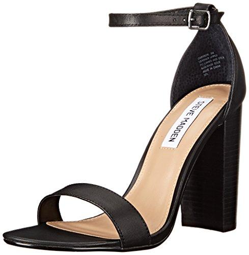 (Steve Madden Women's Carrson Dress Sandal, Black Leather, 11 M US)