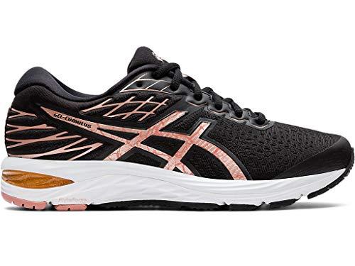 ASICS Women's Gel-Cumulus 21 Running Shoes, 7M, Black/Rose Gold