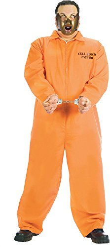 [Cell Block Psycho Prisoner Adult Costume Size: Plus] (Mens Plus Size Cell Block Psycho Costume)