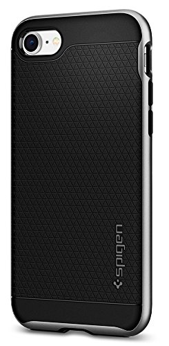 Spigen Neo Hybrid [2nd Generation] iPhone 8 Case/iPhone 7 Case with Flexible Inner Protection and Reinforced Hard Bumper Frame for Apple iPhone 8 (2017) / iPhone 7 (2016) - Satin Silver