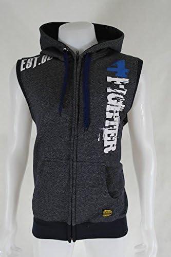 4Fighter Zip Hoodie Pullover mit Reißverschluß, Taschen und