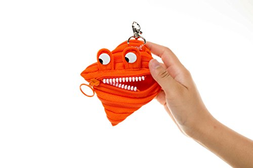ZIPIT Monster Mini Pouch Coin Purse, Orange Photo #3