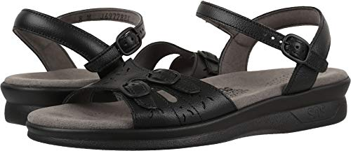 (SAS Womens Duo Open Toe Casual Slingback Sandals, Black, Size 10.0 Arim)