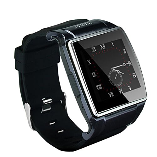 Alloet New Hi Watch2 Bluetooth Smart Watch WristWatch 2.0MP Camera for iPhone Android (Black)