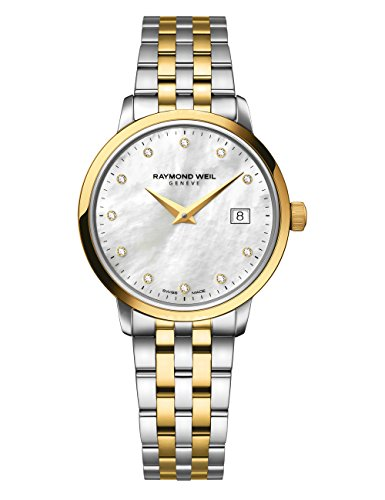 Raymond Weil Women's 'Toccata' Quartz Stainless Steel Casual Watch, Color:Two Tone (Model: 5988-STP-97081)