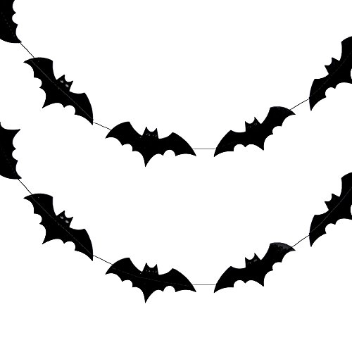 Halloween Bats Paper Garland Banner (10FT)