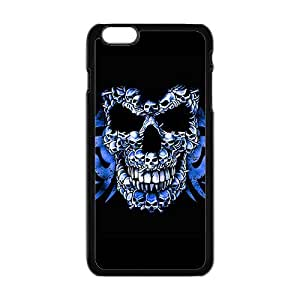 Blue small skull compose big skull Phone Case for iPhone 6 Plus 5.5""