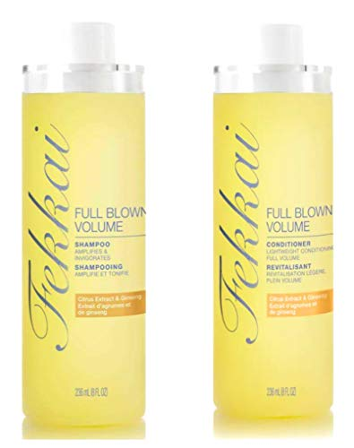 Fekkai Full Blown Volume Shampoo and Conditioner Set - Citrus Extract & Ginseng - 8 oz per Bottle - 1 Bottle of Each (Fekkai Full Volume Shampoo)