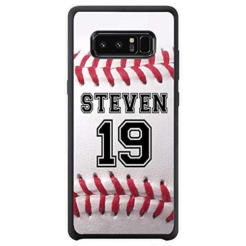 FIDIKO Baseball Hard Back Compatible Samsung Note 8, Retro Personalized Number Name Hard Plastic Durable | Anti Dust Back Cover Compatible Samsung Galaxy Note 8