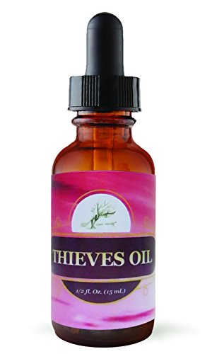 Thieves Oil, # 1 Potent Natural Essential Oil With Antibacterial Properties, Powerful Immune Support, Strep Symptoms Reliever, recurring strep prevention, (Compare to Young Livings Thieves Oil)