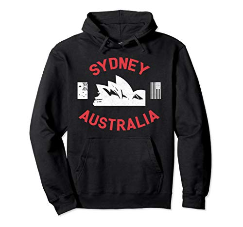 Vintage Sydney City Australia Hoodie (Map Of Sydney Australia And Surrounding Area)