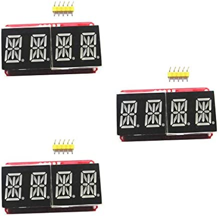 B Blesiya 4 Digit 7-Segment 0.56 LED Display Module HT16K33 I2C For Arduino,Pack Of 6