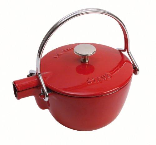 Staub Round Teapot/Kettle - 1QT - Cherry