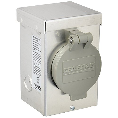 Generac Aluminum Raintight Inlet Box with Spring-Loaded Lid - 20 Amps, 125/250 Volts, Model# 63450 by Generac