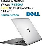 "2016 Newest Dell Inspiron 15 7000 Series Flagship High Performance 15.6"" Touchscreen Laptop, Intel Core i7-5500U 3GHz,12GB RAM, 1TB HDD, Backlit Keyboard, HDMI, WiFi, Webcam, Windows 10"