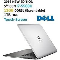 Dell Inspiron 15 7000 Series Flagship High Performance 15.6 Touchscreen Laptop, Intel Core i7-5500U 3GHz,12GB RAM, 1TB HDD, Backlit Keyboard, HDMI, WiFi, Webcam, Windows 10