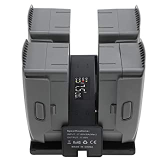Hanatora 4 in 1 Foldable Battery Charging Hub for DJI Mavic 2 Pro/Zoom/Enterprise Drone,Multiple Charger Accessories with Charge Indicator LCD Display