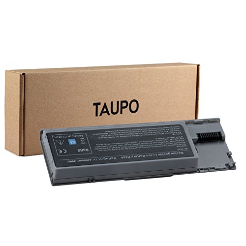 TAUPO New Laptop Battery for Dell Latitude D630 D620, fits P/N PC764 PP18L [4400mAh, 11.1V] - 12 Months Warranty