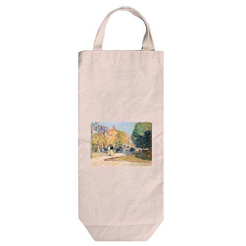 Malborough Street, Boston (Hassam) Cotton Canvas Wine Bag Tote With - Boston Street Best In Shopping