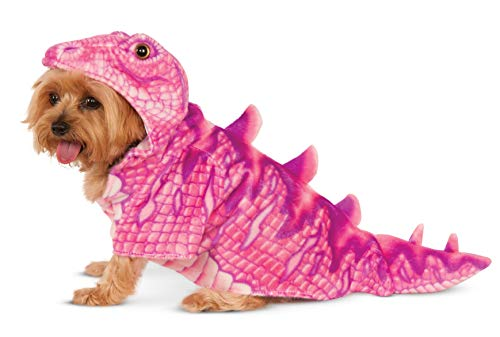 (Pink Dino Hoodie for Pet,)