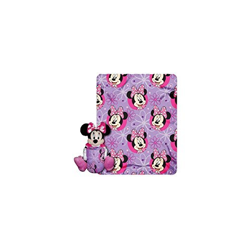[Disney Minnie Mouse Plush Toy and Throw Blanket- Pink] (Daisy Duck Costumes For Toddlers)