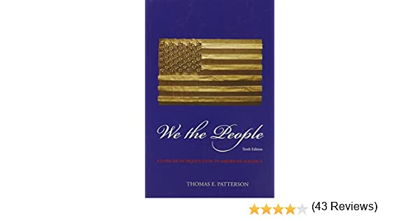 We the people thomas patterson 9780073379173 amazon books fandeluxe Image collections