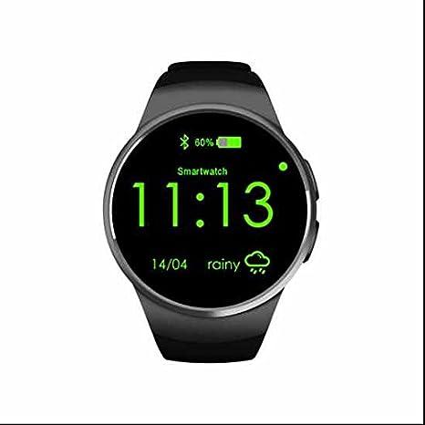 Bluetooth pulsera reloj inteligente SIM/Ritmo cardíaco/dormir/deporte seguimiento inteligente reloj para Android/iOS Smartphone: Amazon.es: Deportes y aire ...