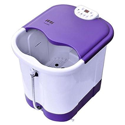 AMYMGLL Baño de pies Spa con Calentador de agua (2 rodillos de masaje eléctrica,