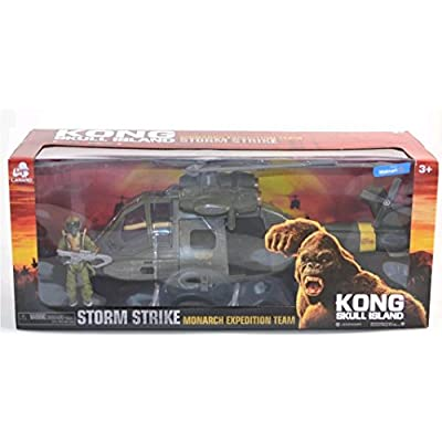 Kong Skull Island Monarch Expedition Team Storm Strike Helicopter: Toys & Games