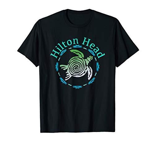 Hilton Head T-Shirt Vintage Tribal Turtle Gift TShirt