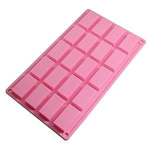 Molde de silicona con forma de tableta de chocolate color - Moldes silicona amazon ...
