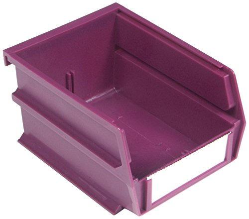 Triton Products LocBin 3-210RB 5-3/8-Inch L x 4-1/8-Inch W x 3-Inch H  Stacking Hanging Interlocking Polypropylene Bin, 24-Count, Raspberry by Triton 2